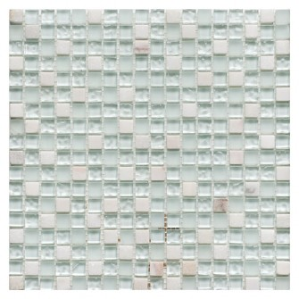 Glass & Stone Mix Mosaic WHITE 30,5х30,5 см.